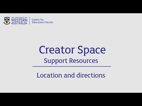 Creator Space - Location and directions