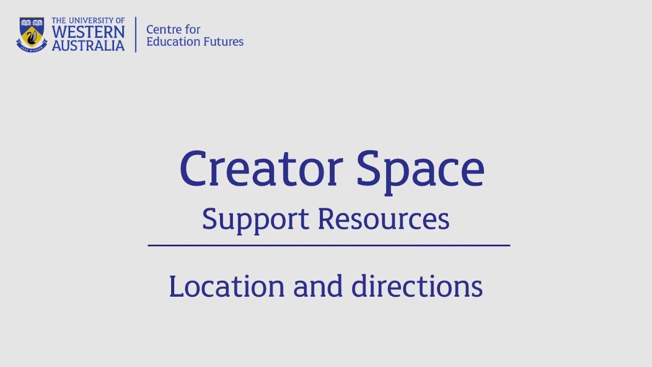 Creator Space - Location and directions - YouTube