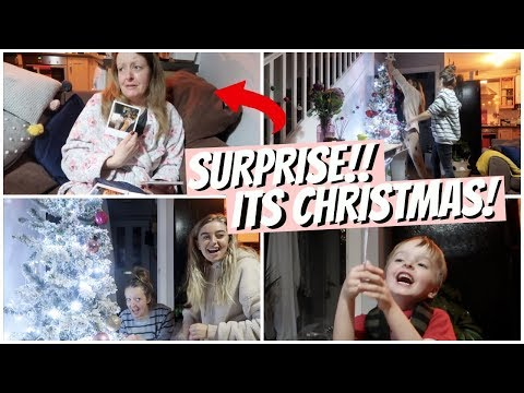 SURPRISING MY MUM AND PUTTING UP OUR CHRISTMAS TREE!!