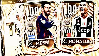 UTOTS MESSI AND RONALDO IN FIFA MOBILE // THE MOST EXPENSIVE PACKS IN FIFA MOBILE 19 // 100 OVR
