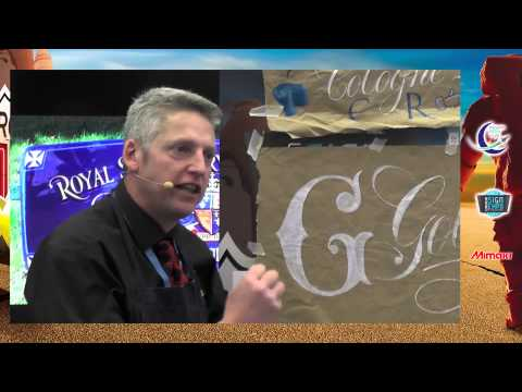 Traditional Sign painting workshop Pictorial and gold leaf work - David Kynaston