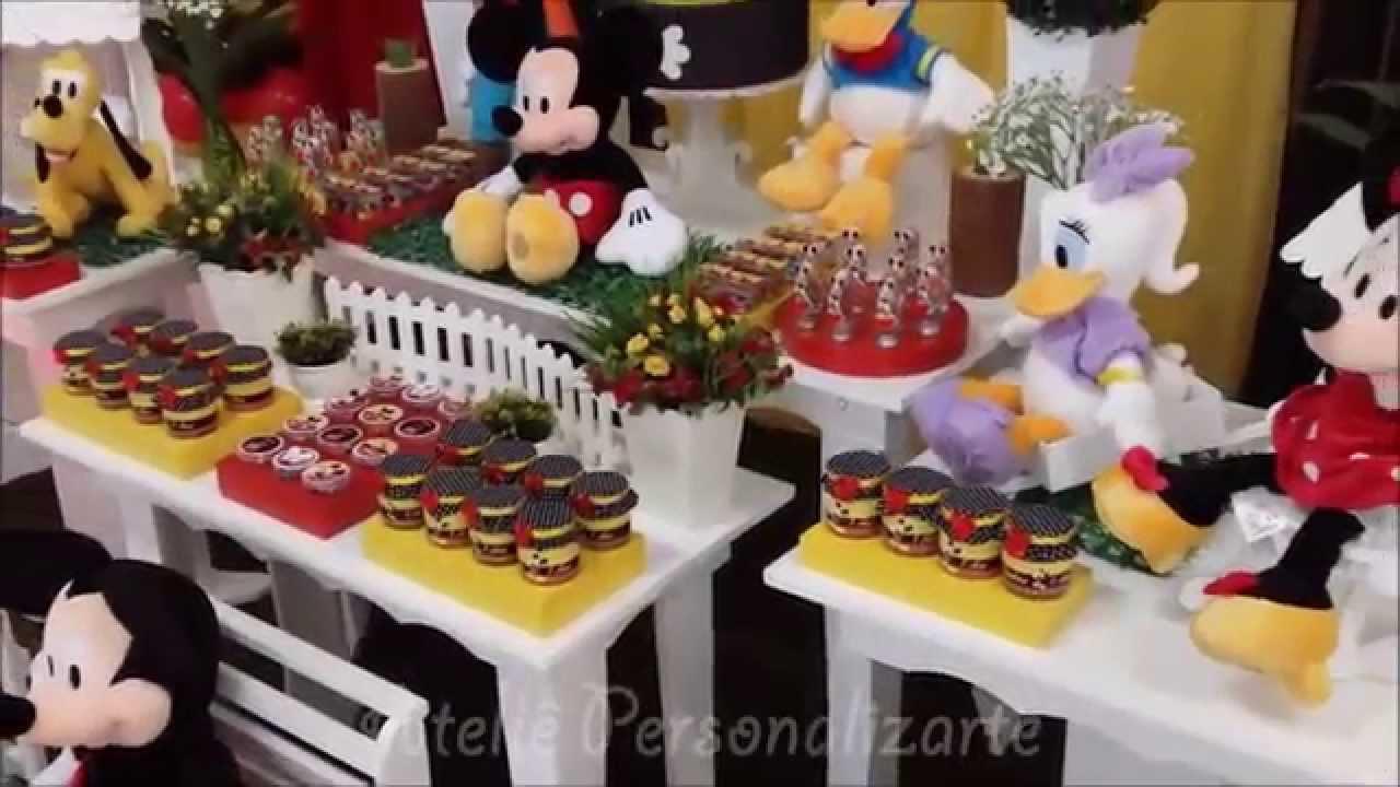 decoracao festa mickey : decoracao festa mickey:Decoração de festa infantil Mickey – YouTube