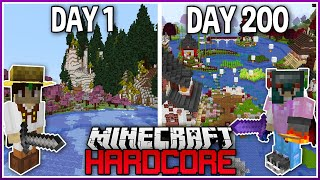 I Played Hardcore Modded Minecraft for 200 Days..
