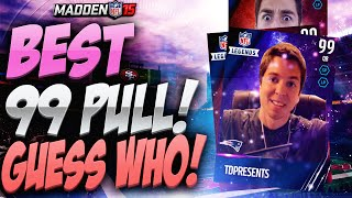 BEST 99 FLASHBACK PULL! MADDEN 15 GUESS WHO PACK OPENING