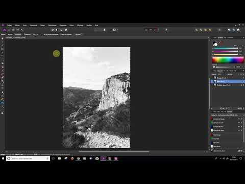 Affinity Photo - Noir et Blanc avec les canaux RVB