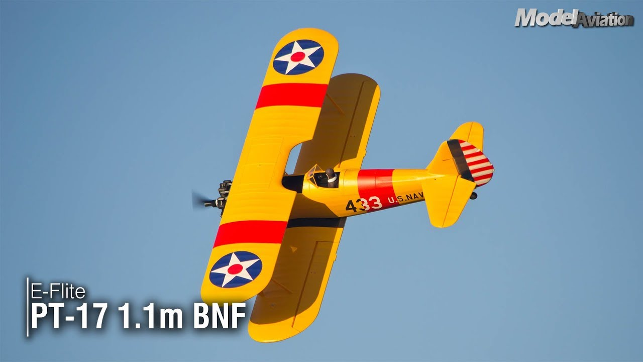 E-flite PT-17 1 1m BNF | Model Aviation