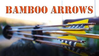 How to build primitive bamboo and cane arrows