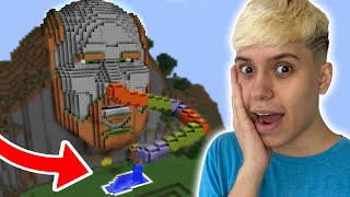 ESCORREGADOR COM PISCINA NO TEMPLO SECRETO DO NOTCH DO MINECRAFT!!