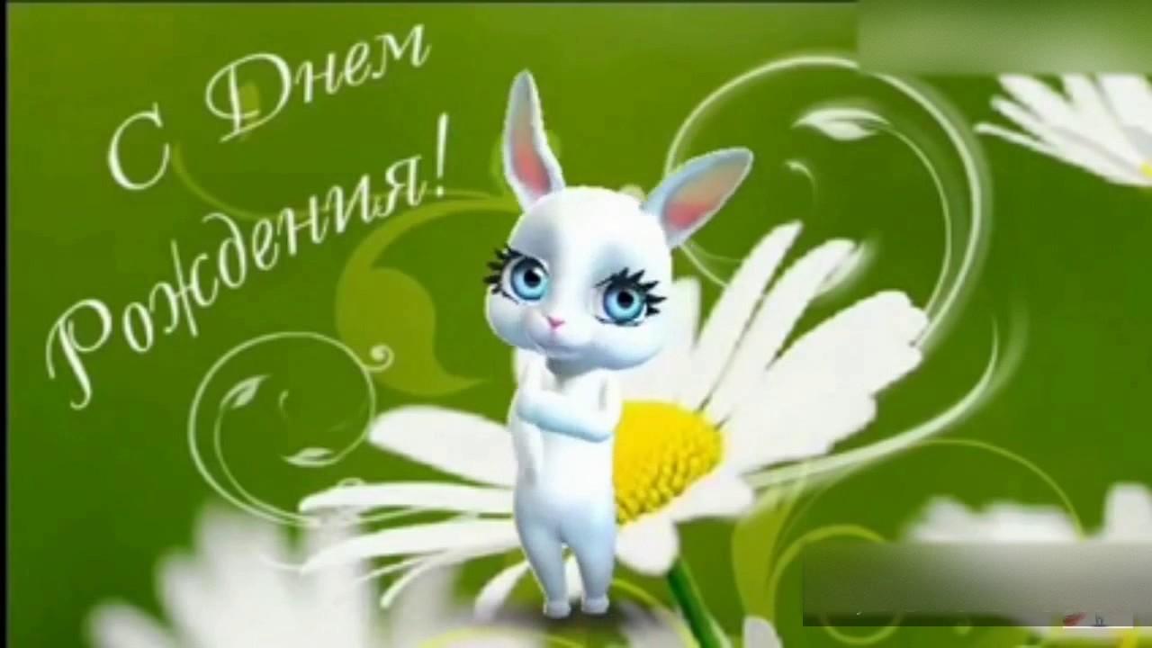 Видео поздравление зайчик с днем рождения