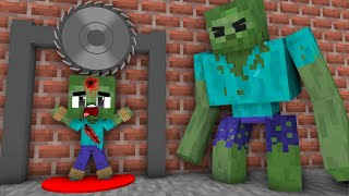 Monster School: Poor Baby Zombie Life  (Sad story but happy ending)- Minecraft Animation