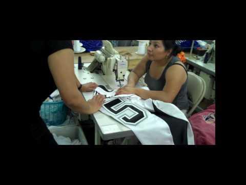UFL Uniform Unveil -- Manufacturing the Jerseys at SFC USA, LLC -- Omaha -- Factory Audio