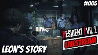 Resident Evil 2 ► Leon's Story - HARDCORE MODE RE2 Remake Gameplay Stream #005