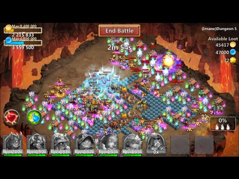 INSANE Dungeon 5-6 For 50% Easiest Ways IMO Castle Clash