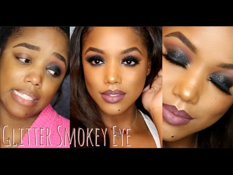 Glitter Smokey Eye NEW YEAR'S EVE Makeup Tutorial | Ellarie
