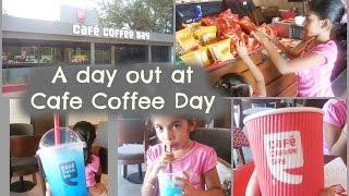 A day out at Cafe Coffee Day Kerala - Kids Vlog