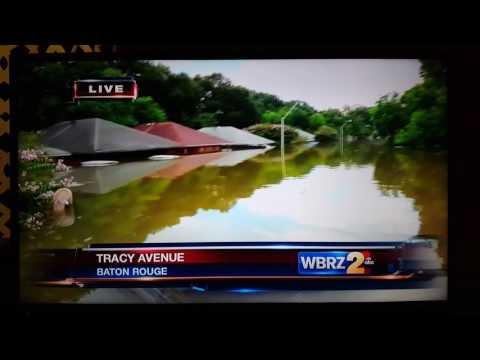 Historic Flooding in Denham Springs, La Local News WBRZ 09 16 2016
