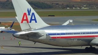 Dois Boeings 767 300ER pousando no Aeroporto Internacional de Belo Horizonte