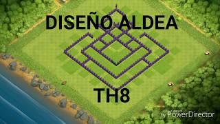Diseño de aldea ayuntamiento 8/clash of clans/by junior307_YT XD