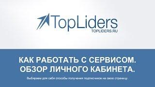 Как работать с сервисом TopLiders. Обзор личного кабинета.