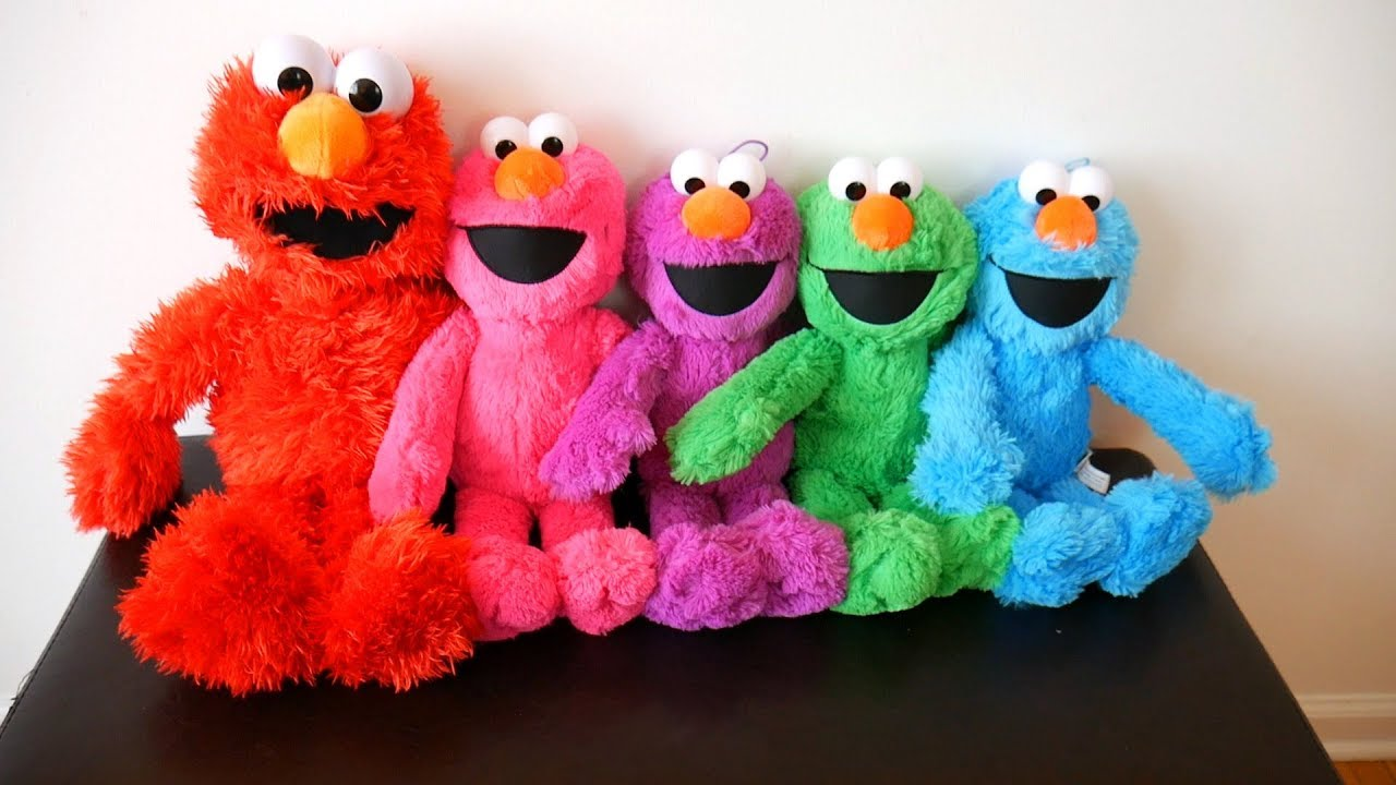 Elmo Colors For Kids Learn Colors With Stuffed Animals Youtube