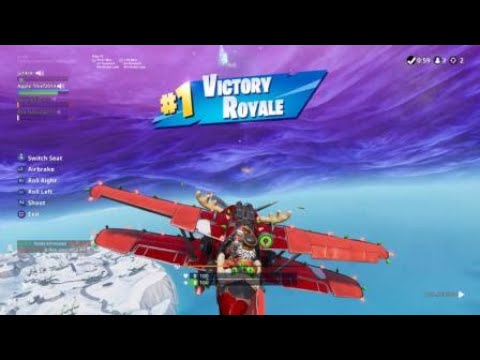 Fortnite Close Encounters In A Plane Youtube