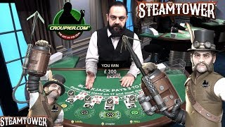 BLACKJACK DEALER CEZAR vs £3,000 SUITED TRIPS SIDE BETS HUNT! High Roller Online Slots Bonus!