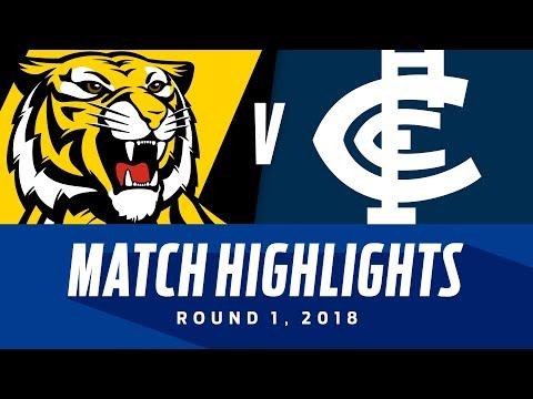 Match Highlights: Richmond v Carlton | Round 1, 2018 | AFL