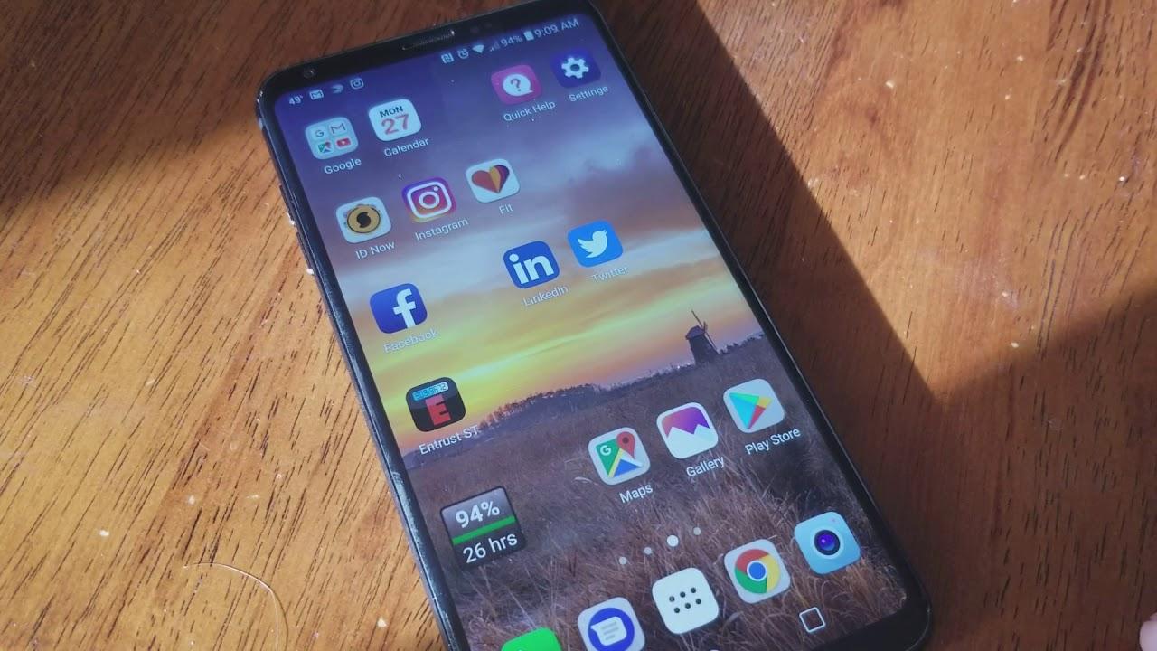 LG V30+ Swipe to See Recent Activity - Sprint Prod
