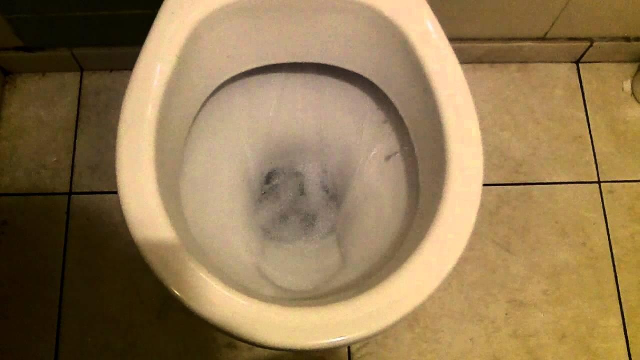 ALLIA Toilet on Presto Button Flushometer - YouTube