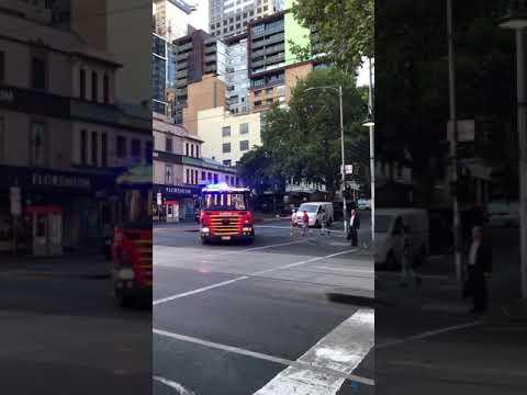MFB Responding Bourke Street