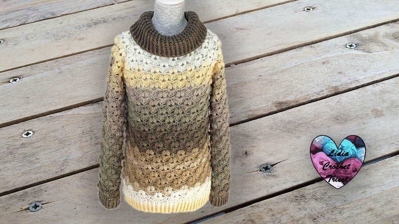 Pull Petits Coeurs Crochet Lidia Crochet Tricot
