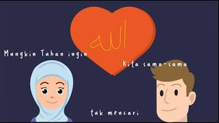 Halaqah Cinta - Abay Adhitya | Animation Version (Official Lyric Video) | Cinta Positif Project
