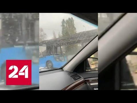 Автобус загорелся на ходу на юго-востоке Москвы - Россия 24