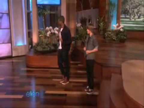 Justin Bieber & Usher dancing on Ellen