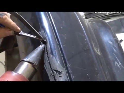 repair of bumpers - образец примера ремонта бампера ваз 2114 ч. 2