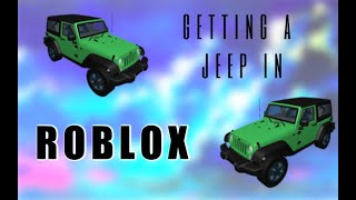 Getting a Jeep in Roblox : BloxBurg! // My first Youtube video :)