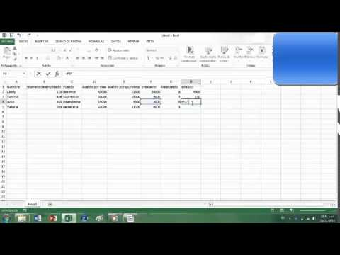 Nomina Simple En Excel Youtube
