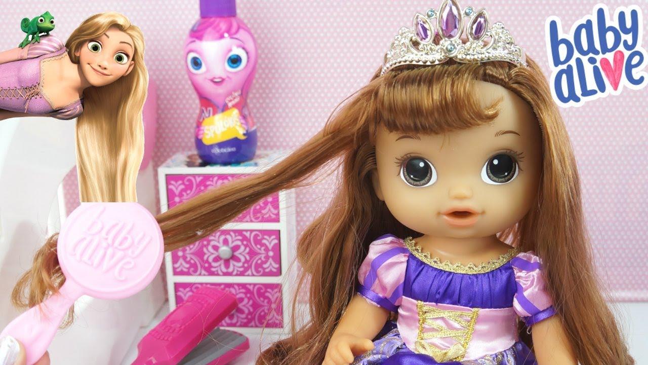 Baby Alive Transformou Em Princesa Rapunzel Minha Boneca