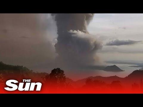 Philippines Taal volcano