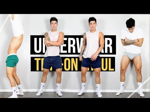 men's underwear try-on haul | tommy hilfiger | jairwoo