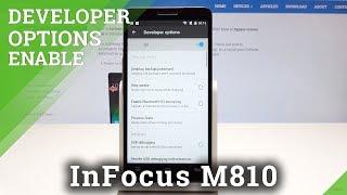 Developer Options in InFocus M810 - OEM Unlock & USB Debugging