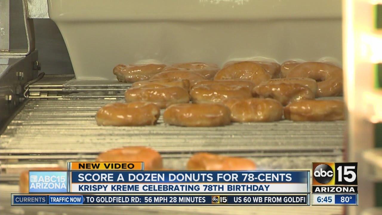 You can score a dozen glazed doughnuts from Krispy Kreme for just ...