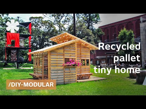 Diy recycled pallet house with ikea style assembly instructions youtube - Make outdoor pallet swing step step guide ...