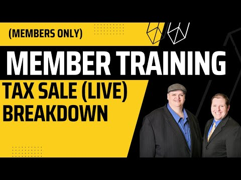 Tax Lien/Deed Auction Systems (Live Research) Tax Sale Workshop