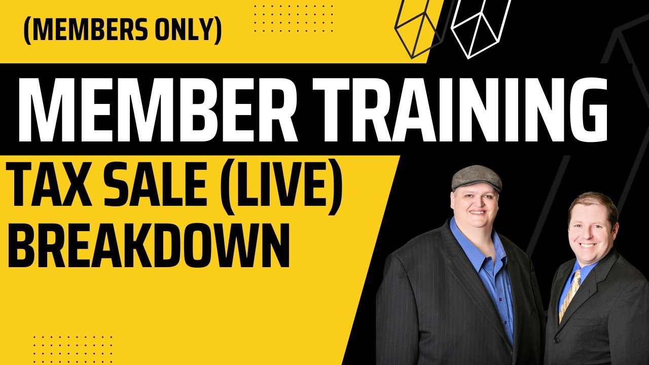 Tax Sale Workshop Tax Liendeed Systems Live Research Youtube