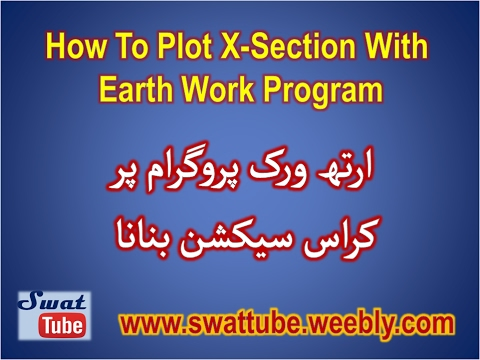 How To Plot Cross Section With Earth Work Program