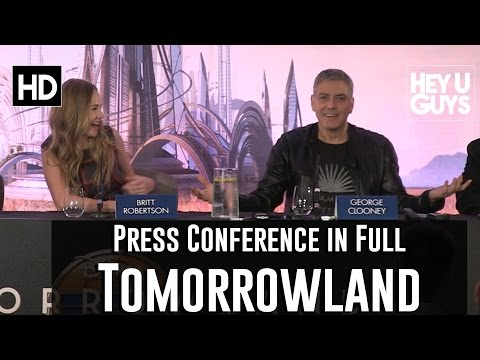 Tomorrowland Press Conference in Full (George Clooney, Brad Bird, Britt Robertson, Raffey Cassidy)