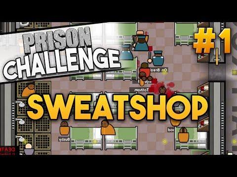 Prison Architect Challenge: SWEATSHOP CHALLENGE ★ GET A JOB! (#1) - Prison Architect User Challenge