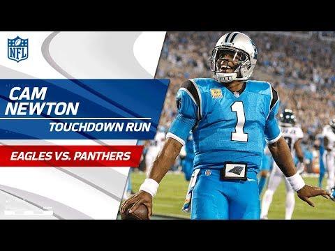 Christian McCaffrey's Punt Return Sets Up Cam Newton's TD Run!   Eagles vs. Panthers   NFL Wk 6