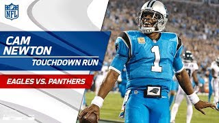 Christian McCaffrey's Punt Return Sets Up Cam Newton's TD Run! | Eagles vs. Panthers | NFL Wk 6